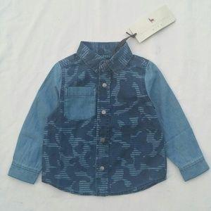 Stella McCartney Samuel Blue Camo Denim Shirt